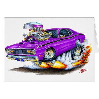 1970-74 Plymouth Duster Purple Car Card