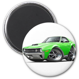 1970 AMX Lime Car 6 Cm Round Magnet