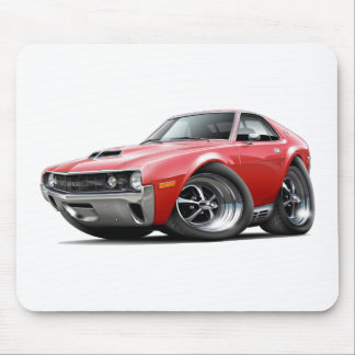 1970 AMX Red Car Mouse Pad