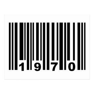 1970 barcode postcard