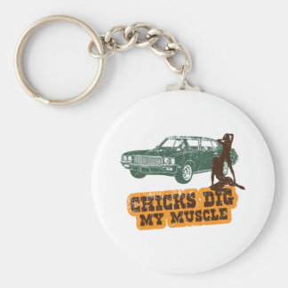 1970 Buick GSX Basic Round Button Key Ring