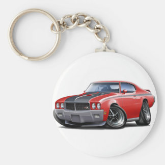 1970 Buick GSX Red Car Basic Round Button Key Ring