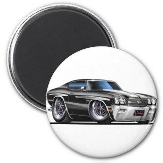 1970 Chevelle Black-White Car Magnet