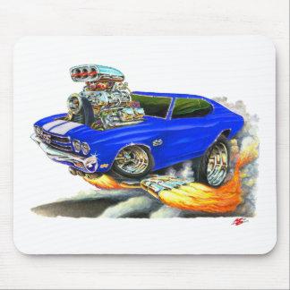 1970 Chevelle Blue-White Car Mouse Pad