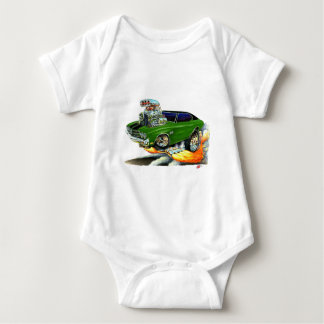 1970 Chevelle Green-Black Car Baby Bodysuit