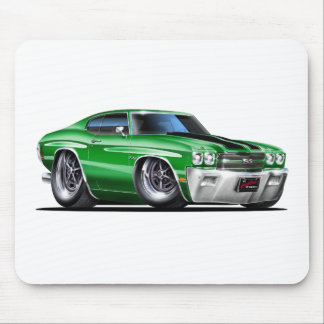 1970 Chevelle Green-Black Car Mouse Pad