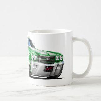 1970 Chevelle Green-White Car Coffee Mug