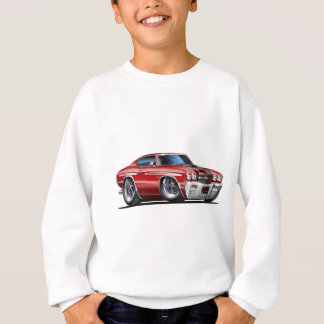 1970 Chevelle Maroon-Black Car Sweatshirt