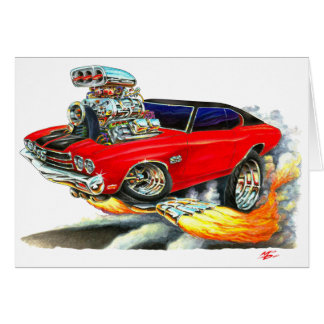 1970 Chevelle Red-Black Top Car Card