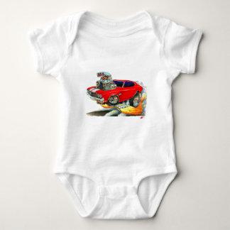 1970 Chevelle Red-White Car Baby Bodysuit