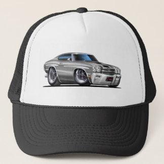 1970 Chevelle Silver-Black Car Trucker Hat