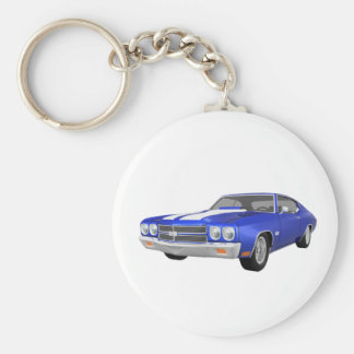 1970 Chevelle SS Blue Finish Key Chain