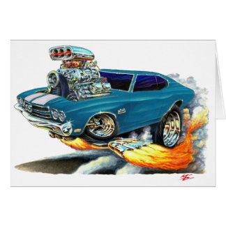 1970 Chevelle Teal Car Card