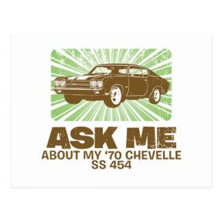 1970 Chevrolet Chevelle SS 454 Postcard