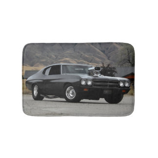 1970 Chevy Chevelle Drag Muscle Car Bath Mat