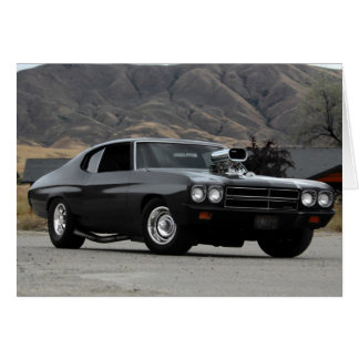 1970 Chevy Chevelle Drag Muscle Car Card