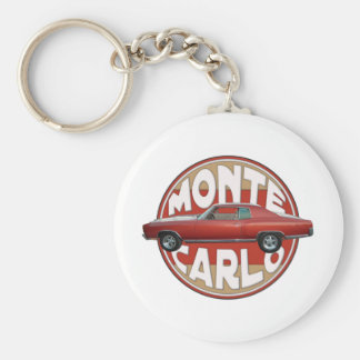 1970 Chevy Monte Carlo Red Line Basic Round Button Key Ring