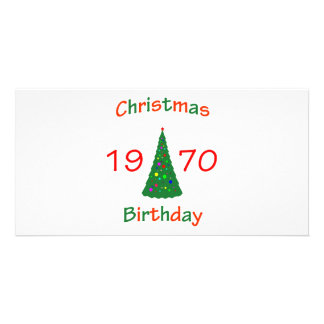 1970 Christmas Birthday Picture Card