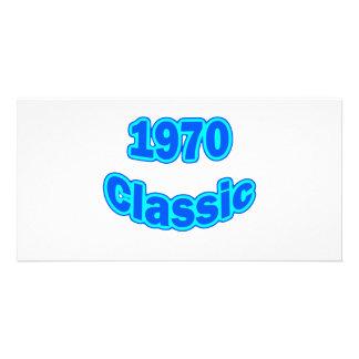 1970 Classic Blue Custom Photo Card