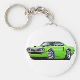 1970 Coronet RT Lime Car Basic Round Button Key Ring