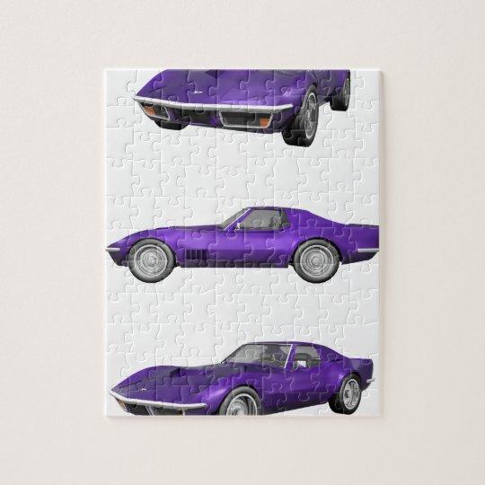 1970 Corvette: Purple Finish Jigsaw Puzzle