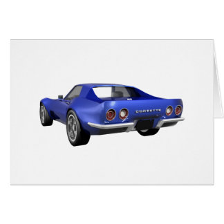 1970 Corvette Sports Car: Blue Finish Greeting Card