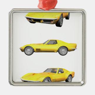1970 Corvette: Yellow Finish: Metal Ornament