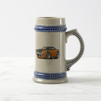 1970 Cuda AAR Orange-Black Top Car Beer Stein
