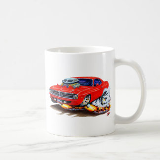 1970 Cuda Red Car Coffee Mug