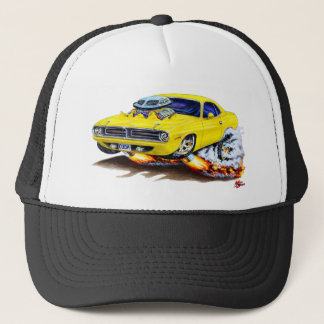 1970 Cuda Yellow Car Trucker Hat