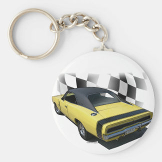 1970 Dodge Charger R/T Basic Round Button Key Ring