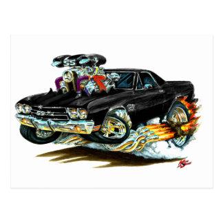 1970 El Camino Black Truck Postcard