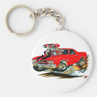 1970 El Camino Red-Black Truck Key Ring