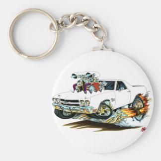 1970 El Camino White Truck Basic Round Button Key Ring