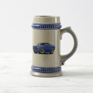 1970 GTO Blue Car Beer Stein