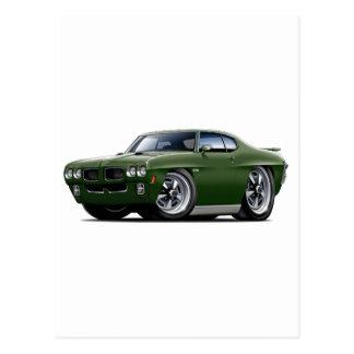 1970 GTO Dark Green Car Postcard