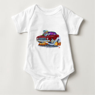 1970 Monte Carlo Maroon Car Baby Bodysuit