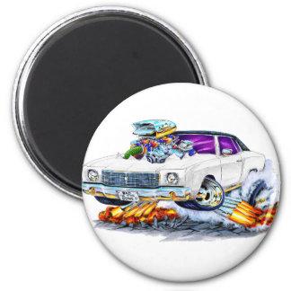 1970 Monte Carlo White Car 6 Cm Round Magnet