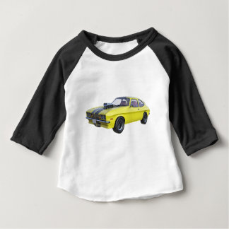 1970 Muscle Car Yellow with Black Stripe Baby T-Shirt