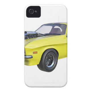 1970 Muscle Car Yellow with Black Stripe iPhone 4 Cover