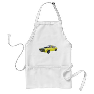 1970 Muscle Car Yellow with Black Stripe Standard Apron