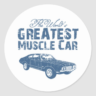 1970 Oldsmobile 442 Classic Round Sticker