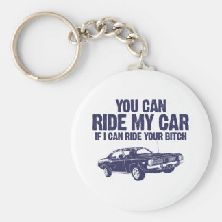 1970 Plymouth Barracuda Basic Round Button Key Ring
