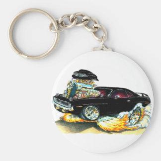 1970 Plymouth Cuda Black Car Basic Round Button Key Ring