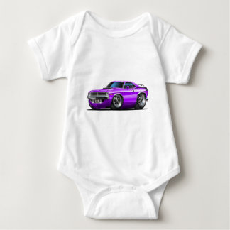1970 Plymouth Cuda Purple Car Baby Bodysuit