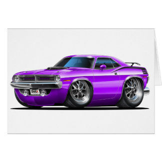 1970 Plymouth Cuda Purple Car Card