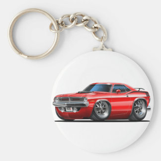 1970 Plymouth Cuda Red Car Key Ring