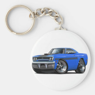 1970 Plymouth GTX Blue-Black Car Key Ring