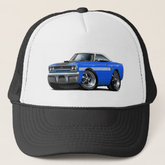 1970 Plymouth GTX Blue-White Top Car Trucker Hat