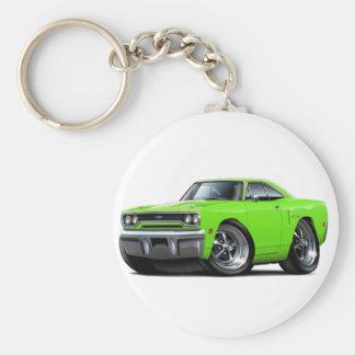 1970 Plymouth GTX Lime Car Basic Round Button Key Ring